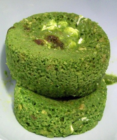 Green Monster Microwave Protein Cake