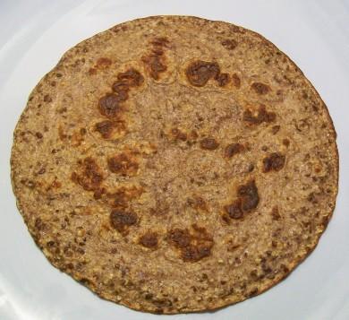 oatmeal flax flatbread