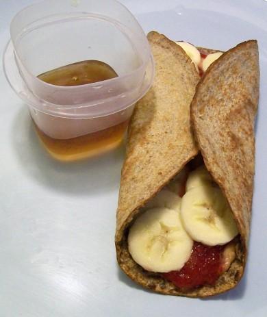 PB&J Banana Wrap