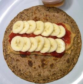PBJ Banana Wrap